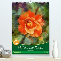 Malerische Rosen (Premium, hochwertiger DIN A2 Wandkalender 2021, Kunstdruck in Hochglanz) von N.,  N.