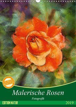 Malerische Rosen (Wandkalender 2019 DIN A3 hoch) von N.,  N.
