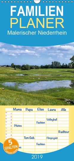 Malerischer Niederrhein – Familienplaner hoch (Wandkalender 2019 , 21 cm x 45 cm, hoch) von Becker,  Thomas