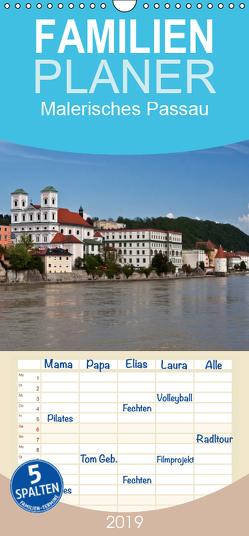 Malerisches Passau – Familienplaner hoch (Wandkalender 2019 , 21 cm x 45 cm, hoch) von boeTtchEr,  U