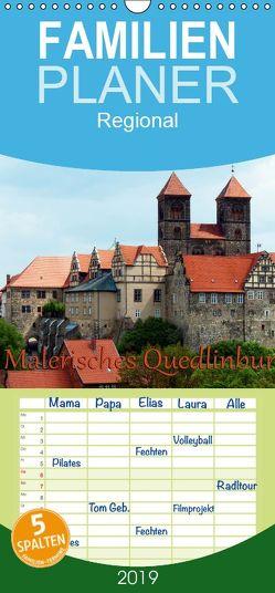 Malerisches Quedlinburg – Familienplaner hoch (Wandkalender 2019 , 21 cm x 45 cm, hoch) von happyroger