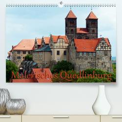 Malerisches Quedlinburg (Premium, hochwertiger DIN A2 Wandkalender 2021, Kunstdruck in Hochglanz) von happyroger