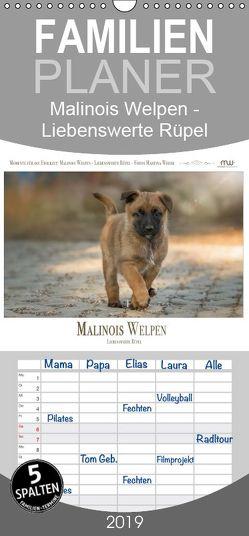 Malinois Welpen – Liebenswerte Rüpel – Familienplaner hoch (Wandkalender 2019 , 21 cm x 45 cm, hoch) von Wrede,  Martina