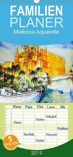 Mallorca Aquarelle – Familienplaner hoch (Wandkalender 2019 , 21 cm x 45 cm, hoch) von Dürr,  Brigitte