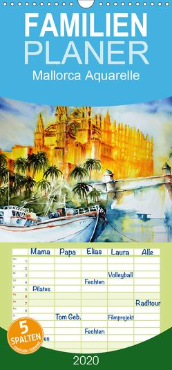 Mallorca Aquarelle – Familienplaner hoch (Wandkalender 2020 , 21 cm x 45 cm, hoch) von Dürr,  Brigitte