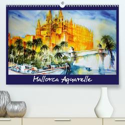 Mallorca Aquarelle (Premium, hochwertiger DIN A2 Wandkalender 2021, Kunstdruck in Hochglanz) von Dürr,  Brigitte