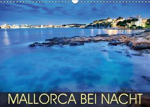 MALLORCA BEI NACHT (Wandkalender 2018 DIN A3 quer) von Thoermer,  Val