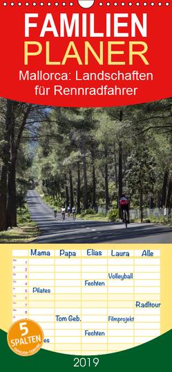 Mallorca: Die schönsten Landschaften für Rennradfahrer – Familienplaner hoch (Wandkalender 2019 , 21 cm x 45 cm, hoch) von Poul,  Herbert