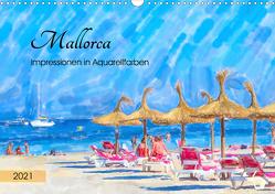 Mallorca – Impressionen in Aquarellfarben (Wandkalender 2021 DIN A3 quer) von Frost,  Anja