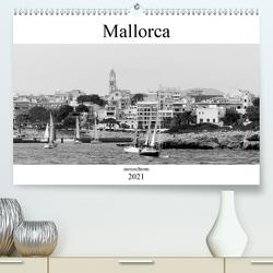 Mallorca monochrom (Premium, hochwertiger DIN A2 Wandkalender 2021, Kunstdruck in Hochglanz) von happyroger