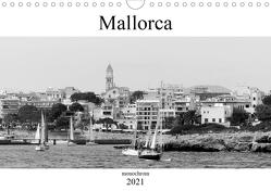 Mallorca monochrom (Wandkalender 2021 DIN A4 quer) von happyroger