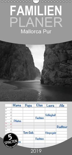 Mallorca Pur (s/w) – Familienplaner hoch (Wandkalender 2019 , 21 cm x 45 cm, hoch) von Hilger,  Axel