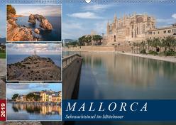 Mallorca, Sehnsuchtsinsel im Mittelmeer (Wandkalender 2019 DIN A2 quer) von Kruse,  Joana