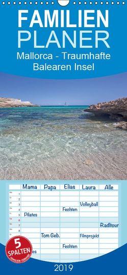 Mallorca – Traumhafte Balearen Insel – Familienplaner hoch (Wandkalender 2019 , 21 cm x 45 cm, hoch) von Potratz,  Andrea