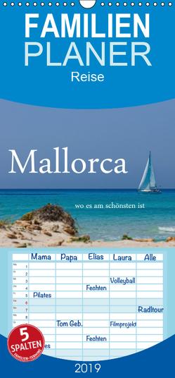 Mallorca wo es am schönsten ist – Familienplaner hoch (Wandkalender 2019 , 21 cm x 45 cm, hoch) von Stehle,  Brigitte