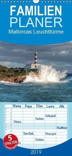 Mallorcas Leuchttürme – Familienplaner hoch (Wandkalender 2019 , 21 cm x 45 cm, hoch) von Hilger,  Axel
