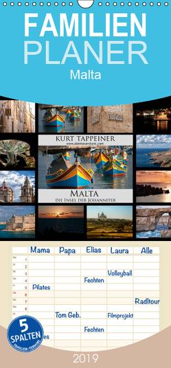 Malta – Familienplaner hoch (Wandkalender 2019 , 21 cm x 45 cm, hoch) von Tappeiner,  Kurt