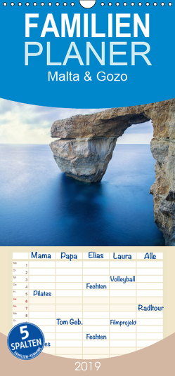 Malta & Gozo – Familienplaner hoch (Wandkalender 2019 , 21 cm x 45 cm, hoch) von Papenfuss,  Christoph