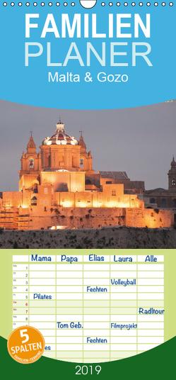 Malta & Gozo – Familienplaner hoch (Wandkalender 2019 , 21 cm x 45 cm, hoch) von Sahlender,  Andreas