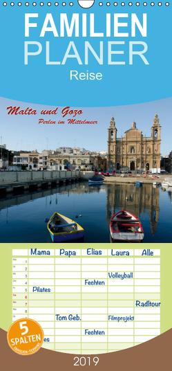 Malta und Gozo, Perlen im Mittelmeer – Familienplaner hoch (Wandkalender 2019 , 21 cm x 45 cm, hoch) von Koch,  Hermann