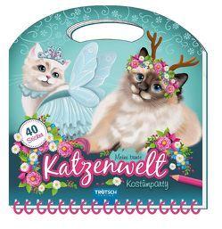 """Maltasche """"Meine bunte Katzenwelt – Kostümparty"""" mit Glitzercover von Angelmahr,  Anja"""