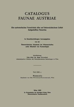 Mammalia von Wettstein-Westersheimb,  Otto