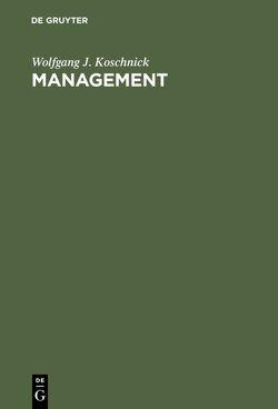 Management von Koschnick,  Wolfgang J