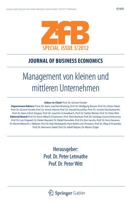 Management von kleinen und mittleren Unternehmen von Letmathe,  Peter, Witt,  Peter