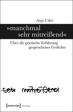 »manchmal sehr mitreißend« von Utler,  Anja