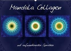 Mandala Collagen mit aufmunternden Sprüchen (Wandkalender 2018 DIN A2 quer) von Bässler,  Christine