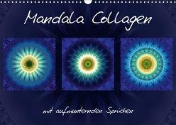 Mandala Collagen mit aufmunternden Sprüchen (Wandkalender 2018 DIN A3 quer) von Bässler,  Christine