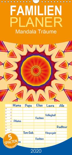 Mandala Träume – Familienplaner hoch (Wandkalender 2020 , 21 cm x 45 cm, hoch) von Burlager,  Claudia