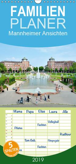 Mannheimer Ansichten – Familienplaner hoch (Wandkalender 2019 , 21 cm x 45 cm, hoch) von Tortora,  Alessandro