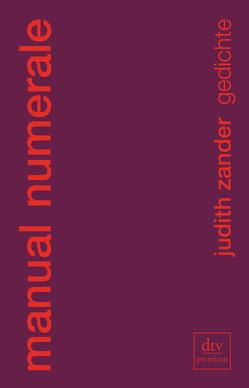 manual numerale von Zander,  Judith