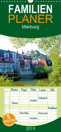 Marburg 2019 – Familienplaner hoch (Wandkalender 2019 , 21 cm x 45 cm, hoch) von Bunk,  Monika