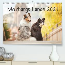 Marburgs Hunde 2021 (Premium, hochwertiger DIN A2 Wandkalender 2021, Kunstdruck in Hochglanz) von Hemlep,  Christine