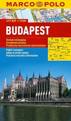 MARCO POLO Cityplan Budapest 1:15 000