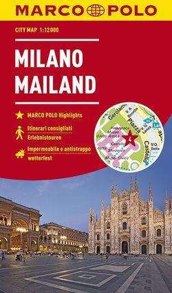 MARCO POLO Cityplan Mailand 1:12 000