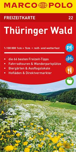 MARCO POLO Freizeitkarte Thüringer Wald
