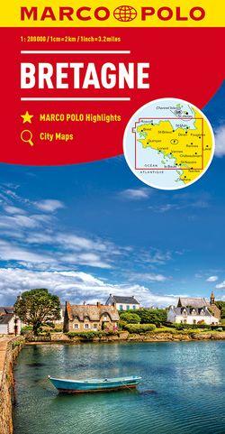 MARCO POLO Karte Bretagne 1:200 000
