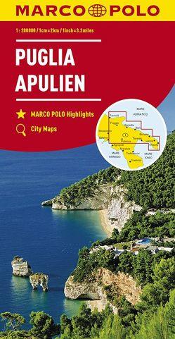 MARCO POLO Karte Italien Blatt 11 Apulien 1:200 000