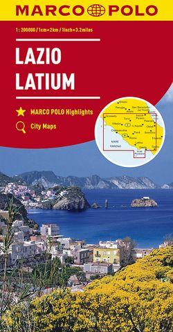 MARCO POLO Karte Italien Blatt 9 Latium 1:200 000
