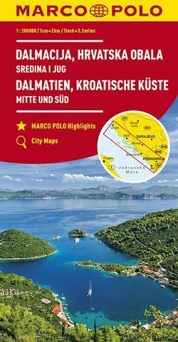 MARCO POLO Karte HR Dalmatien, Kroatische Küste 1: 200 000