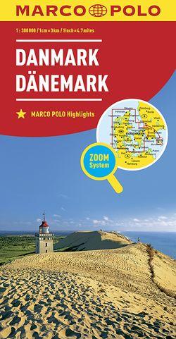 MARCO POLO Länderkarte Dänemark 1:300 000
