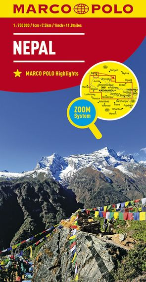 MARCO POLO Länderkarte Nepal 1:750 000