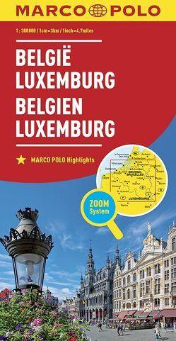 MARCO POLO Länderkarte Belgien, Luxemburg 1:300 000