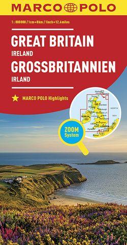 MARCO POLO Länderkarte Großbritannien, Irland 1:800 000