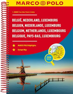 MARCO POLO Reiseatlas Benelux, Belgien, Niederlande, Luxemburg 1:200 000