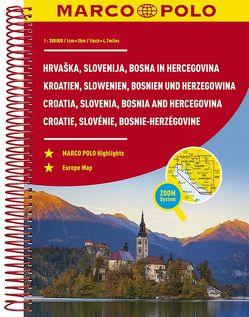 MARCO POLO Reiseatlas Kroatien, Slowenien, Bosnien und Herzegowina 1:300