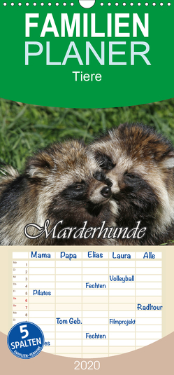 Marderhunde – Familienplaner hoch (Wandkalender 2020 , 21 cm x 45 cm, hoch) von Lindert-Rottke,  Antje